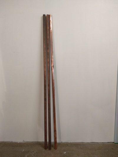 3 TUBES CUIVRE 30 MM DIAM. 180 CM